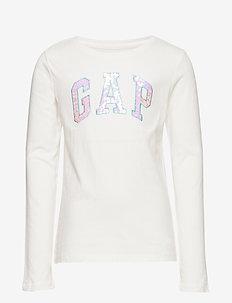 V-FR LS LOGO T - langærmede t-shirts - new off white