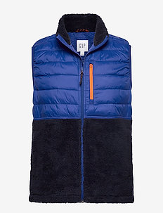 Mix-Fabric Sherpa Vest - BODEGA BAY