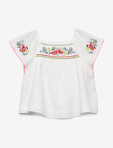 Toddler Embroidered Top - NEW OFF WHITE