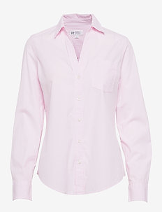 Perfect Shirt in Poplin - chemises à manches longues - pink pinstripe