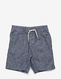 Toddler Chambray Pull-On Shorts - INDIGO CHAMBRAY