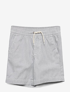 Toddler Railroad Stripe Pull-On Shorts - szorty - railroad stripe blue