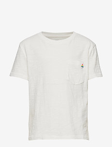 Kids Print Pocket T-Shirt - À manches courtes - new off white