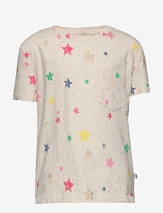 Kids Print Pocket T-Shirt - À manches courtes - oatmeal confetti nep