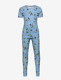 Kids Astronaut PJ Set - sets - oasis blue