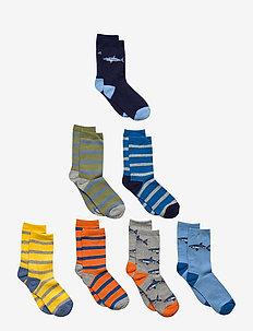 Kids Shark Crew Socks (7-Pack) - strumpor - multi