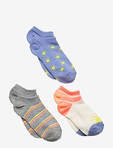 Kids No-Show Sunny Socks (3-Pack) - strømper - multi