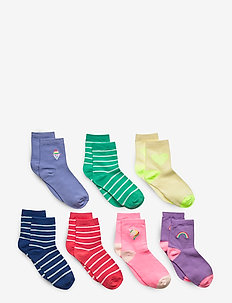 Kids Graphic Stripe Crew Socks (7-Pack) - chaussettes - multi