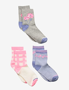 Kids Floral Crew Socks (3-Pack) - MULTI