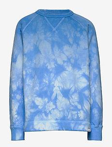 Kids Print Crewneck Sweatshirt - sweats - blue tie dye