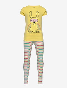 Kids Llama PJ Set - sets - yellow sun