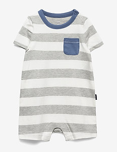 Baby Stripe Shorty One-Piece - À manches courtes - light heather grey b08