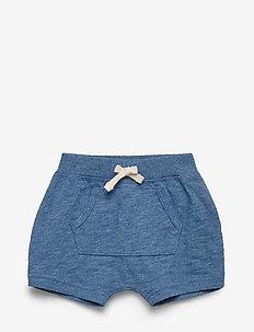Baby Indigo Kanga Pull-On Shorts - shorts - indigo heather b0821