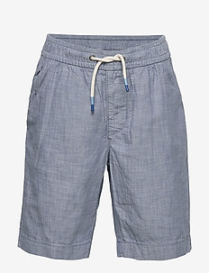Kids Pull-On Easy Shorts - BLUE CHAMBRAY