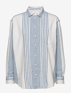 The Big Shirt - denim shirts - madison stripe blue
