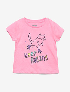 Toddler Graphic Short Sleeve T-Shirt - PINK CAT