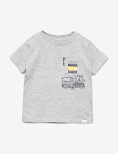 Toddler Short Sleeve Graphic T-Shirt - LIGHT HEATHER GREY