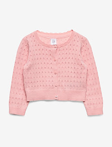 Toddler Pointelle Cardigan Sweater - cardigans - icy pink