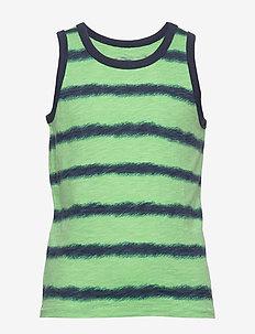 Kids Stripe Tank - zonder mouwen - navy green stripe