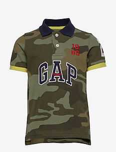 Kids Gap Logo Polo Shirt - GREEN CAMO