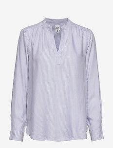 Print Popover Top - blouses à manches longues - blue white stripe