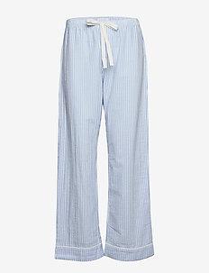 Relaxed Pajama Pants in Poplin - bas - blue white stripe