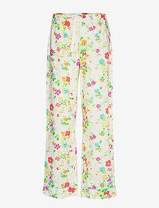 Relaxed Pajama Pants in Poplin - garden multi floral