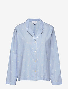 Pajama Shirt in Poplin - hauts - chambray bees