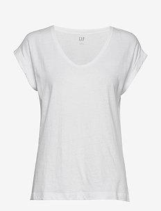Relaxed Scoopneck T-Shirt - koszulki basic - optic white 3