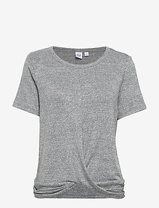Softspun Twist-Front Shirt - SPACEDYE GREY MARL V2