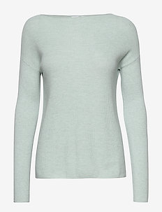True Soft Boatneck Sweater - pulls - heather aqua b7708
