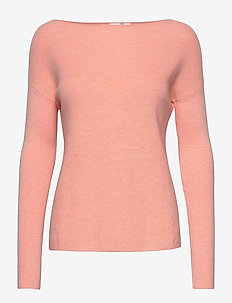True Soft Boatneck Sweater - pulls - pale coral