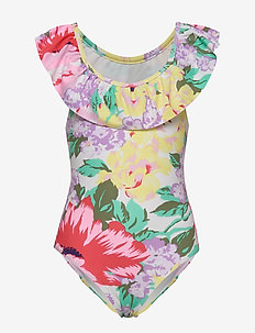 Kids Floral Ruffle Swim One-Piece - maillots 1 pièce - floral print
