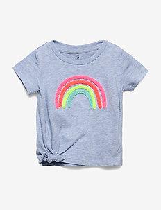 Toddler Graphic Knot-Tie T-Shirt - kortærmede - rainbow