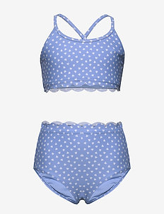 Kids Scalloped Heart Swim Two-Piece - bikinier - hearts