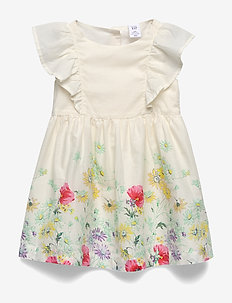 Toddler Floral Ruffle Dress - robes - placd botanical floral