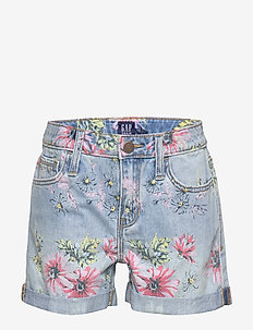 Kids Floral Girlfriend Shorts - FLORAL PRINT