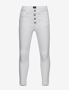 Kids High Rise Jeggings in Stain-Resistant - trousers - white denim