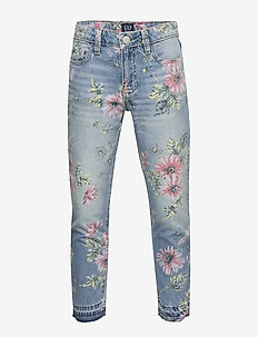 Kids Floral Girlfriend Jeans - FLORAL PRINT
