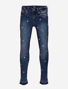 Kids Star Super Skinny Jeans with Stretch - MULTI STARS