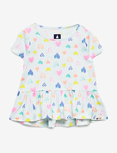 Toddler Peplum Tunic T-Shirt - chemisiers & tuniques - hearts