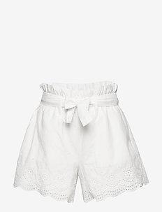 Kids Tie-Belt Eyelet Shorts - shorts - new off white