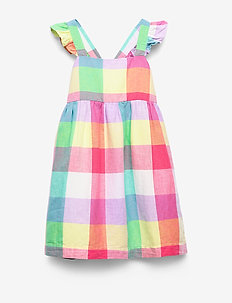 Kids Flutter Plaid Dress - robes - new off white opt1
