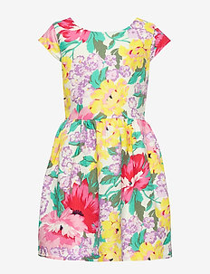 Kids Floral Fit and Flare Dress - dresses - ivory frost