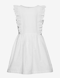 Kids Eyelet Ruffle Dress - OPTIC WHITE 3