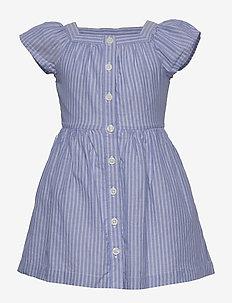 Kids Stripe Squareneck Dress - BLUE STRIPE