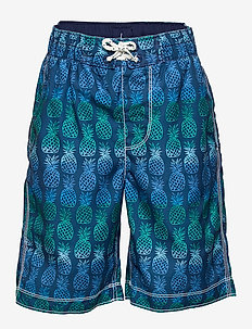 Kids Pineapple Board Shorts - badebukser - blue pineapples