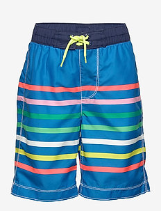 Kids Stripe Board Shorts - badebukser - blue stripe