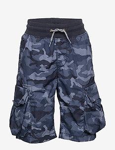 Kids Pull-On Cargo Shorts - shorts - blue camo