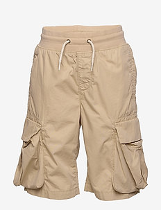 Kids Pull-On Cargo Shorts - shorts - iconic khaki